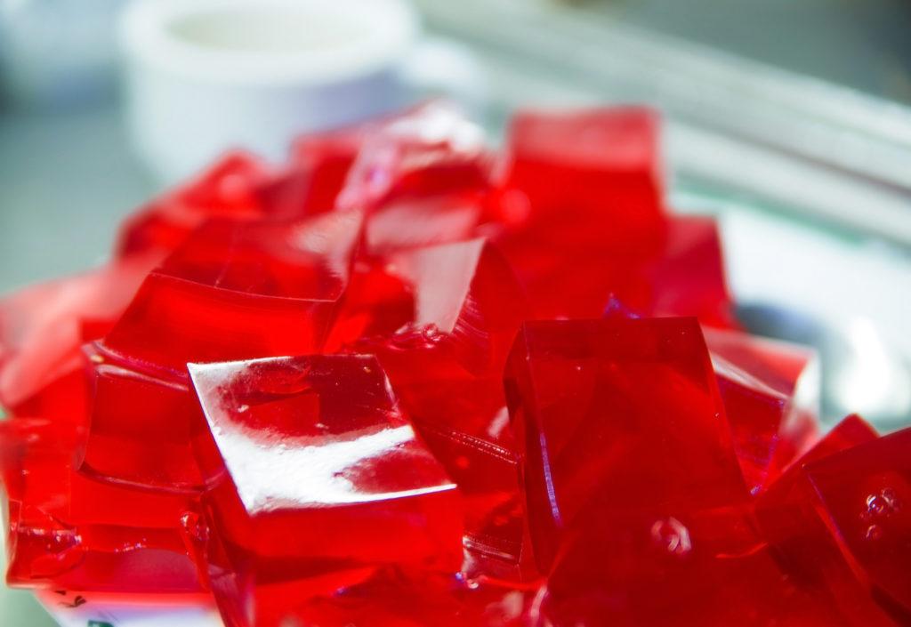 photo of Homemade Red Cherry Gelatin Dessert